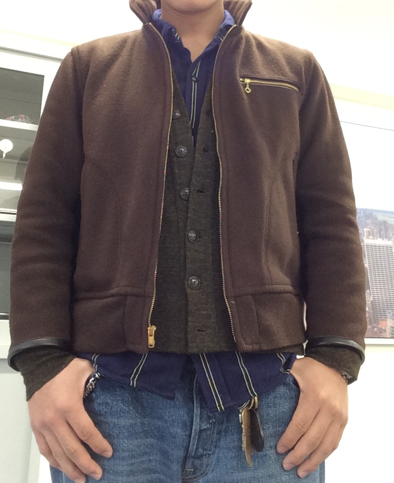 トップス:GTM SHT2 × RANK KNIT(10AW) × WOOL WORK JKT ボトムス:RIDERS E WASH