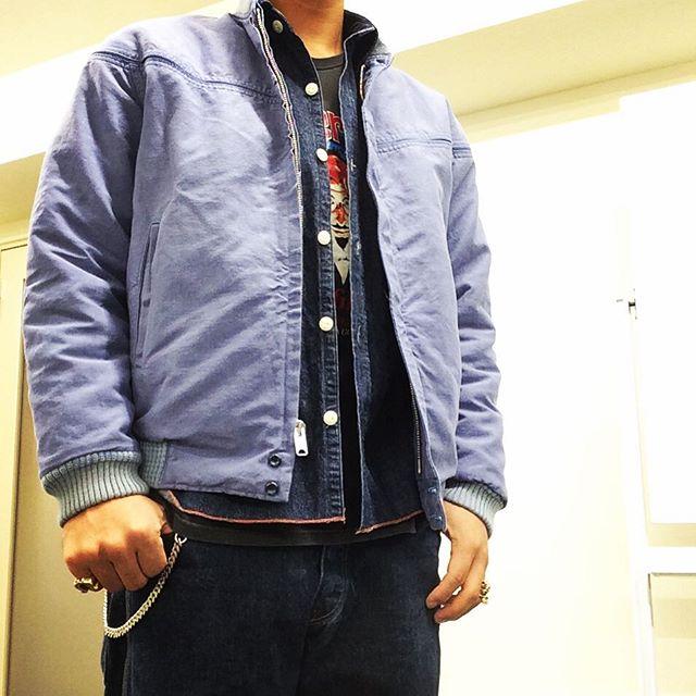 T-J.K JKT × デニムシャツ