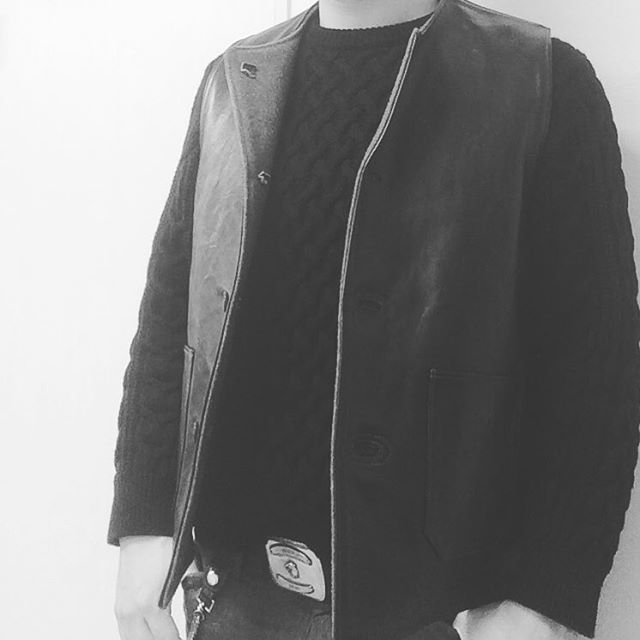 SWEATER&LEATHER