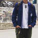 DENIM SHT JKT – ARMY PNTS