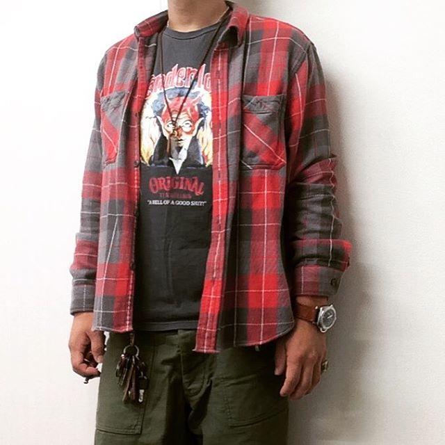 ヘビーフランネルシャツ