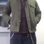 12AWの防寒スタイル【A-2&ブランケットシャツ】