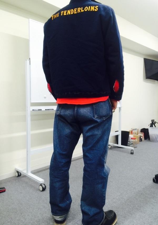 赤のヘビーフランネルシャツ