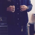 スーベニアジャケット×インディゴ染めシャツ
