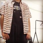 オーバーオール × アロハシャツ