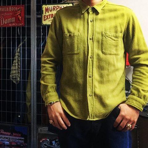 ヘビーフランネルシャツとHOOVERデニム