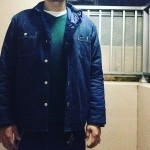 デニムライニングシャツ × V/N KNIT